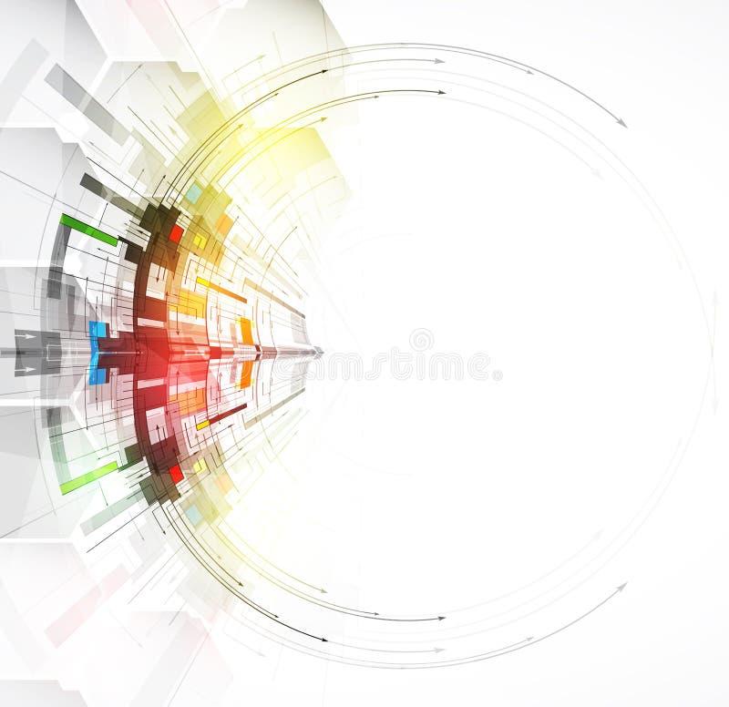 企业解答想法的技术抽象背景收藏 向量例证