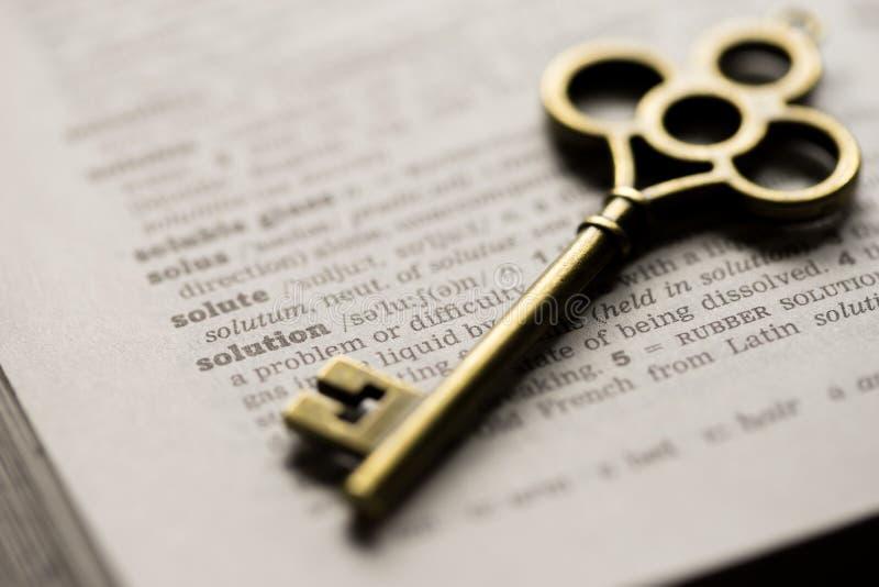 企业解答的概念钥匙 库存图片