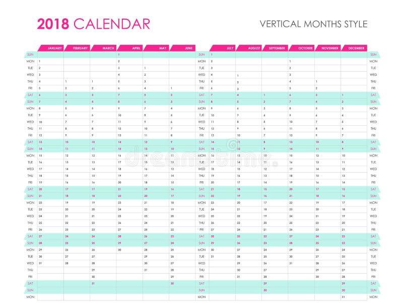 企业计划者2018年 向量例证