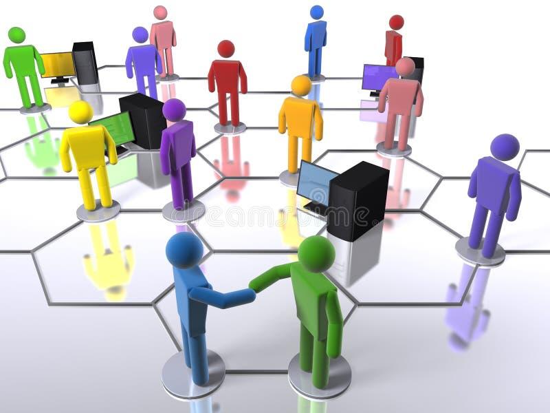 企业计算机不同的网络 向量例证