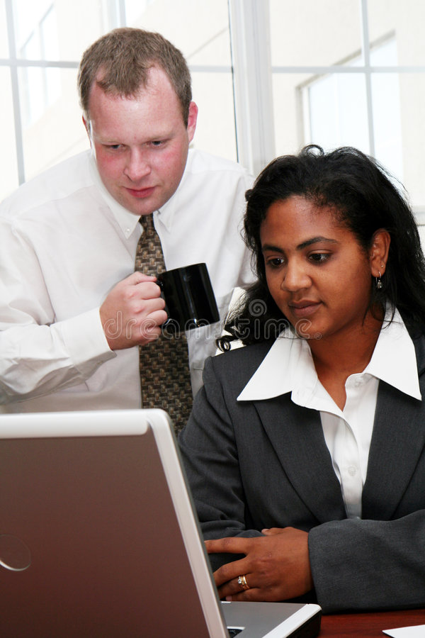 企业计算机小组 免版税库存图片