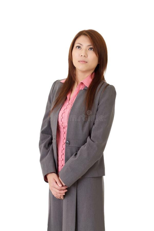 企业认为的妇女年轻人 图库摄影