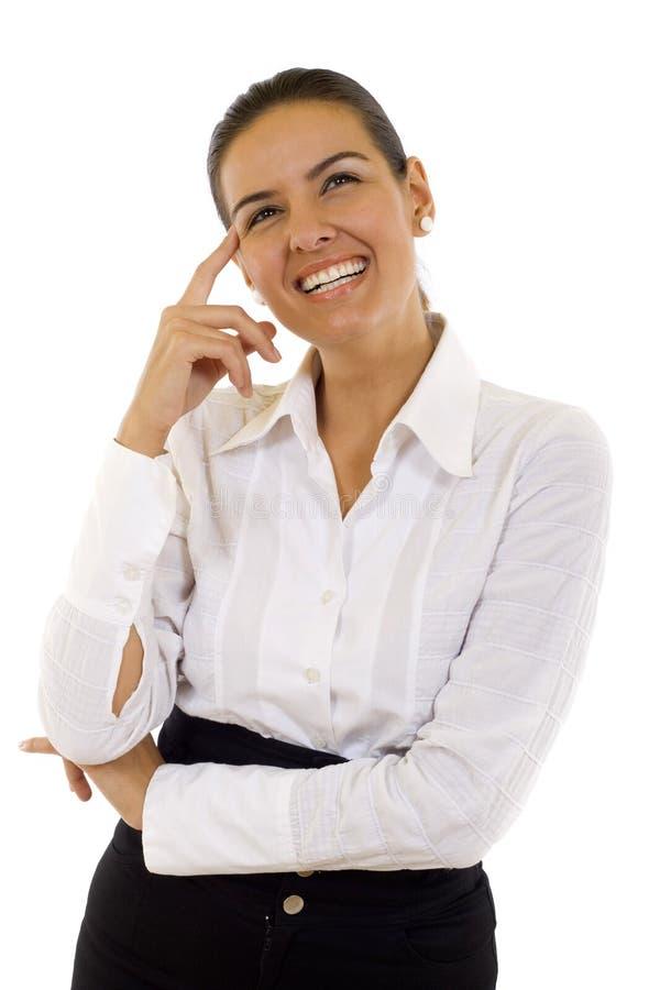 企业认为的妇女 免版税库存照片