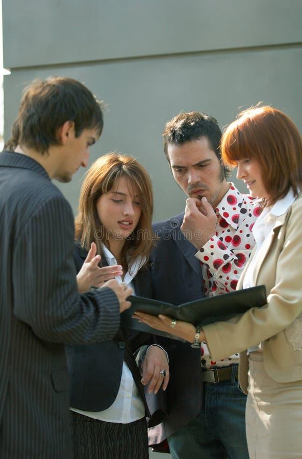 企业讨论组 免版税图库摄影