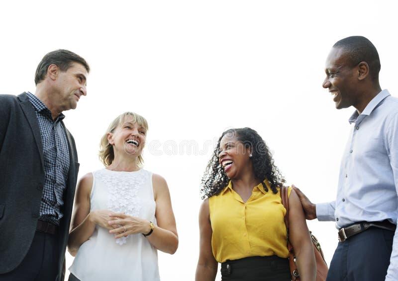 企业讨论谈的成交概念 免版税图库摄影