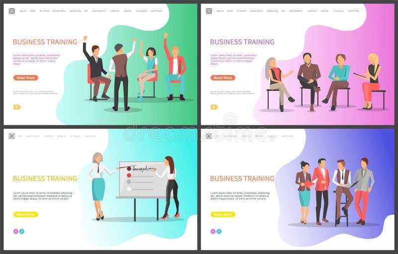 企业训练、听众和介绍 库存例证