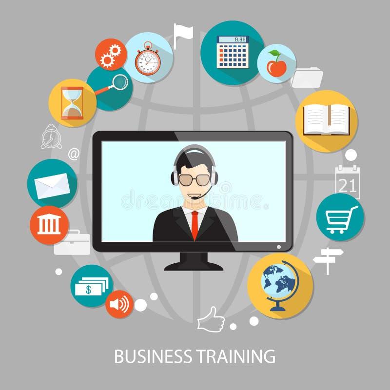 企业训练 向量例证