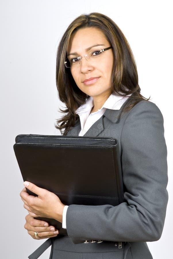 企业讲西班牙语的美国人妇女 免版税库存图片