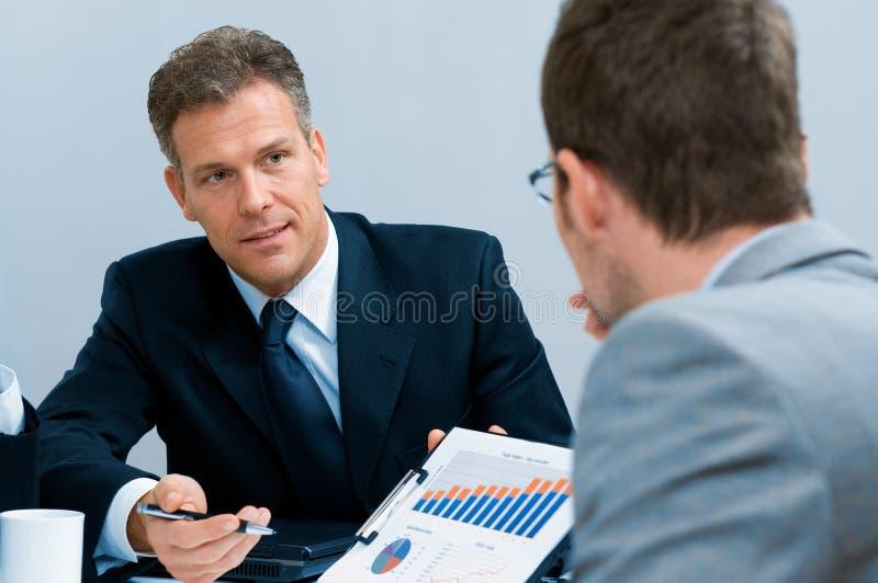 企业论述会议工作 免版税库存照片