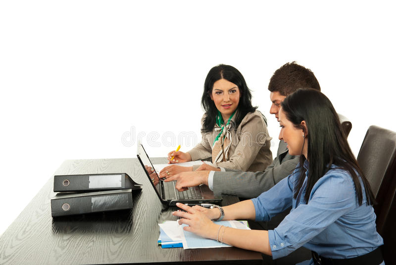 企业论述办公室人 图库摄影