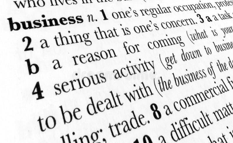 企业词典术语字 免版税库存图片