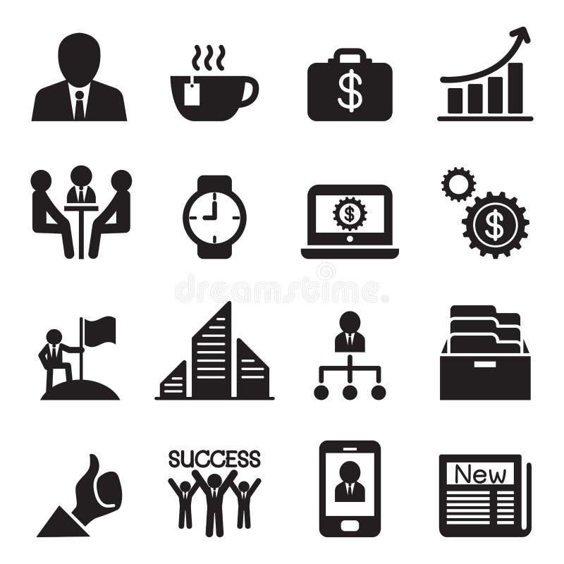 企业象被设置的传染媒介例证 库存例证
