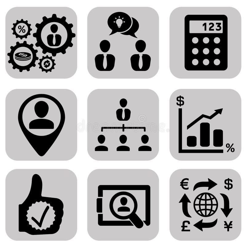 企业象设置了,管理和人力资源 库存例证