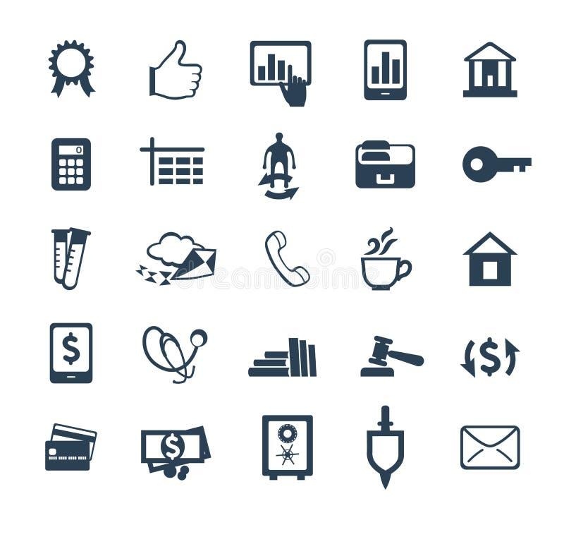 企业象集合 财务,营销,电子商务 平的设计 库存例证