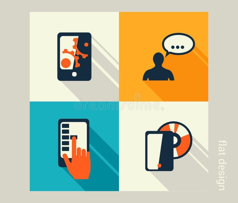 企业象集合 软件和网发展,营销 向量例证
