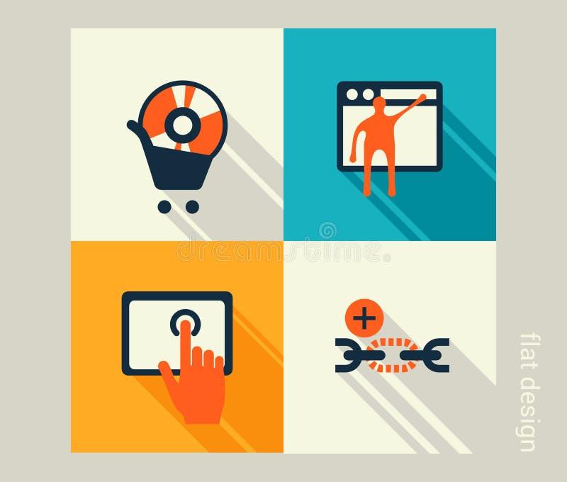 企业象集合 软件和网发展,营销 库存例证