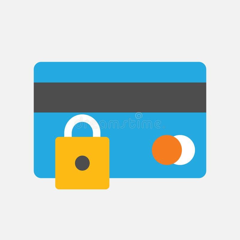 企业象,打开了文件夹iconBusiness和银行业务象,信用卡机智挂锁,安全付款象 皇族释放例证