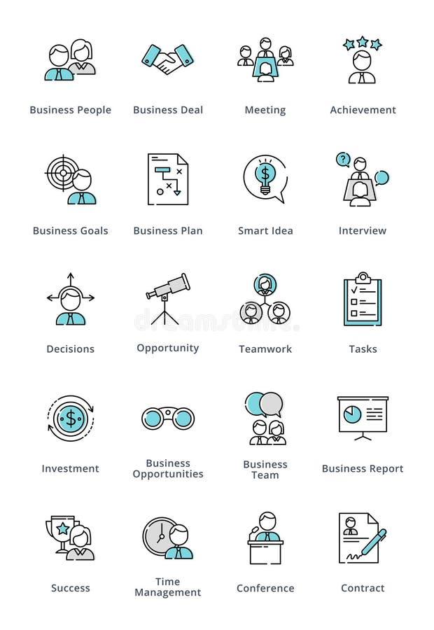 企业象-概述系列 向量例证
