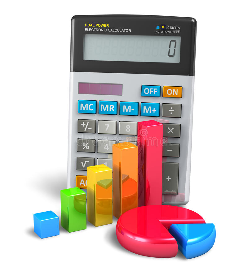 企业财务、银行业务和会计概念 皇族释放例证
