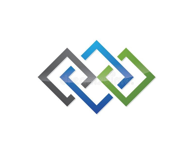 企业财务专业商标模板 向量例证