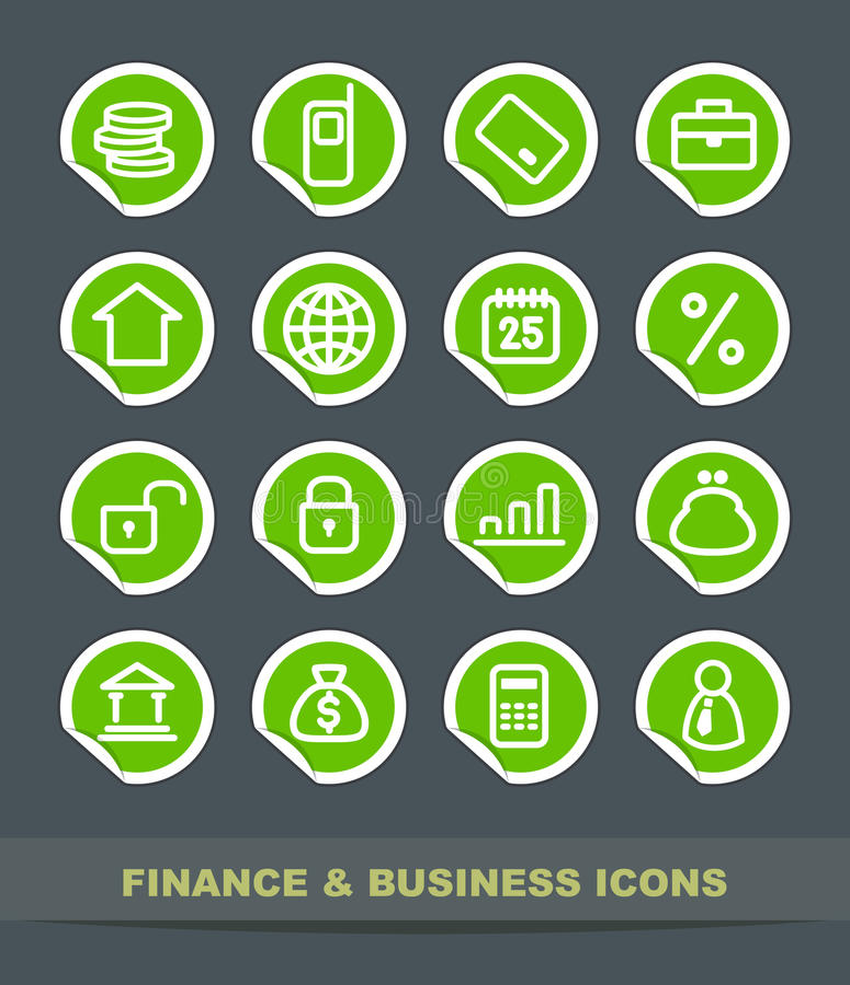 企业财务图标 向量例证