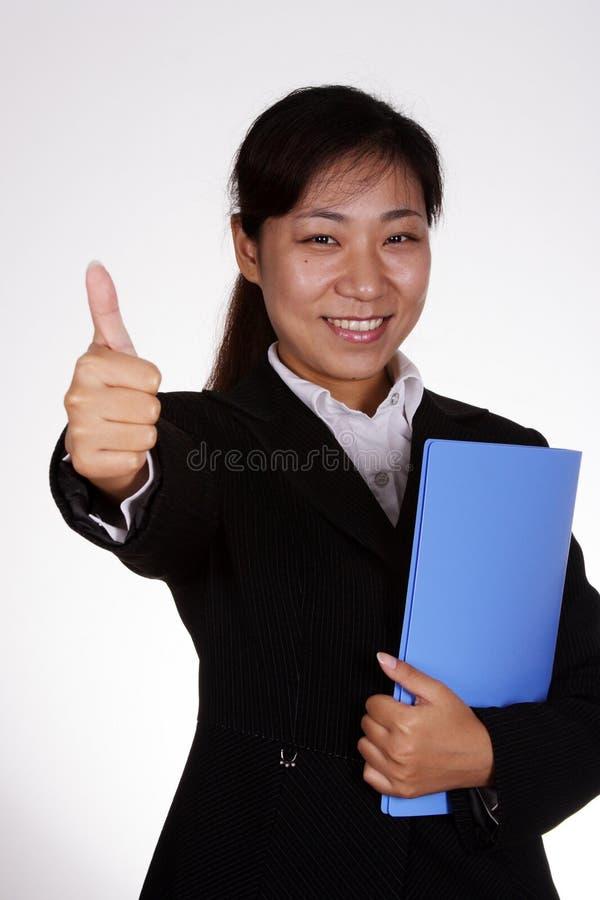 企业赞许妇女 库存照片