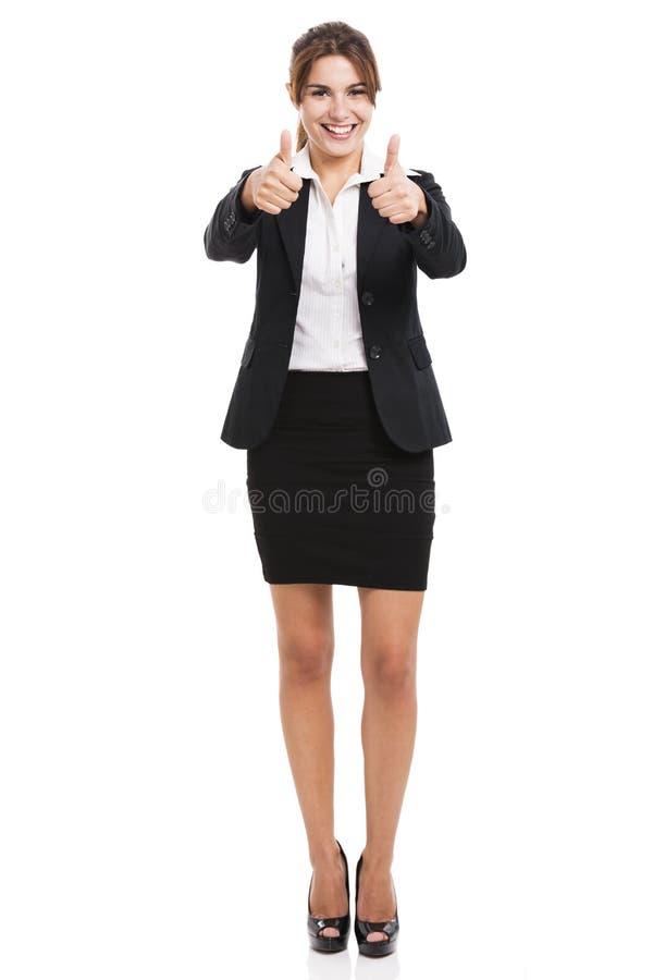 企业赞许妇女 免版税库存图片