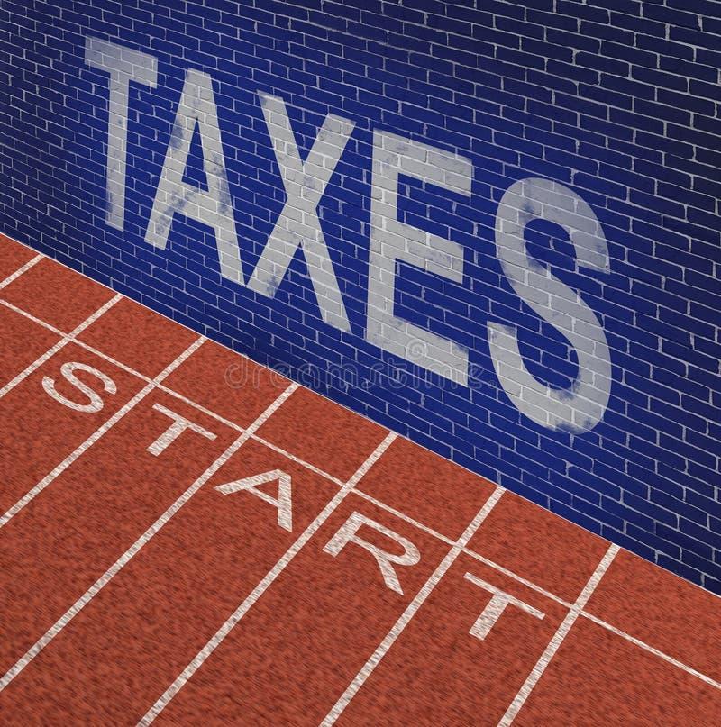 企业起动税问题 向量例证