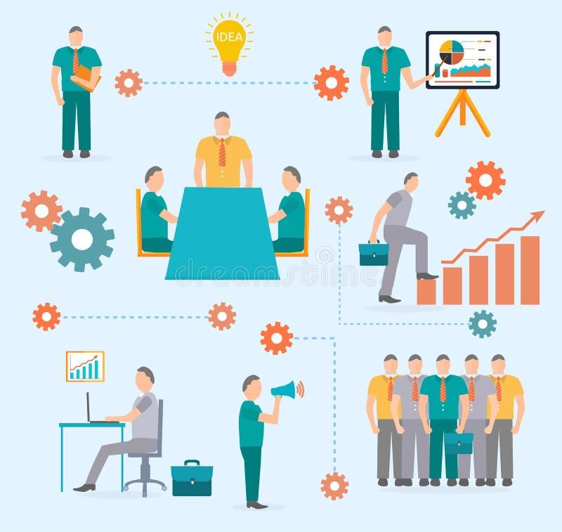 企业起动infographics模板 向量例证