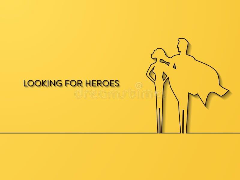 企业超级英雄补充传染媒介概念 事业机会,力量,领导,刺激,力量的标志 皇族释放例证