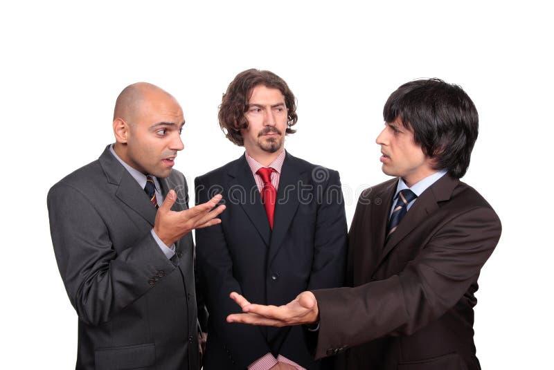 企业辩论的人 库存图片