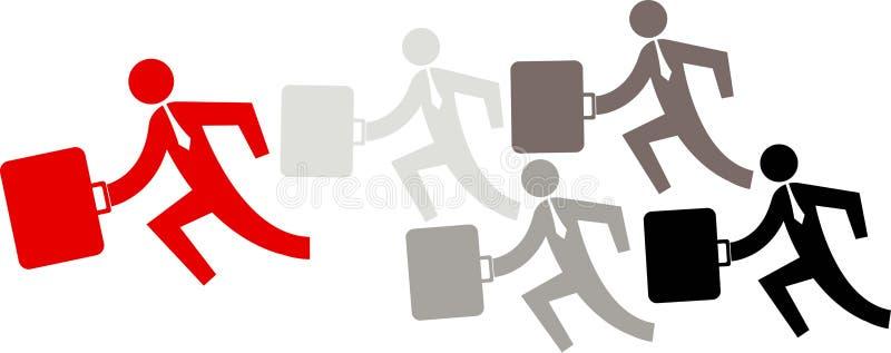 企业运行中 向量例证