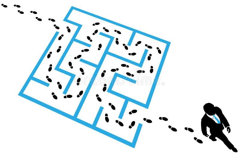 企业迷宫人员问题难题解决 向量例证
