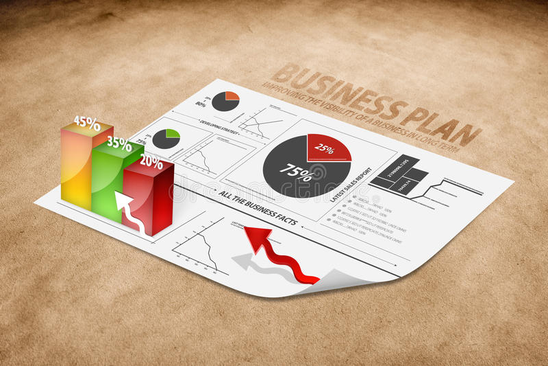 企业透视图计划 免版税库存图片