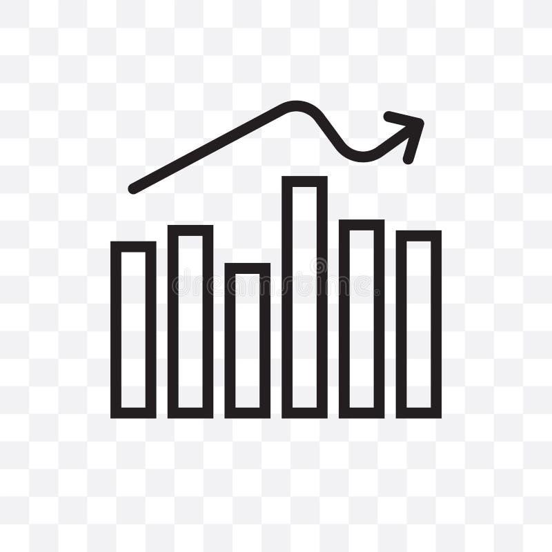 企业逻辑分析方法图表导航在透明背景隔绝的线性象,企业逻辑分析方法图表透明度concep 向量例证