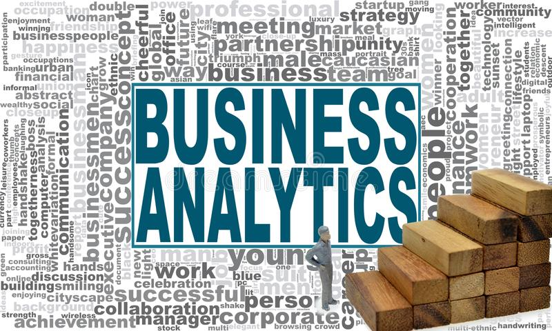 企业逻辑分析方法词云彩 向量例证