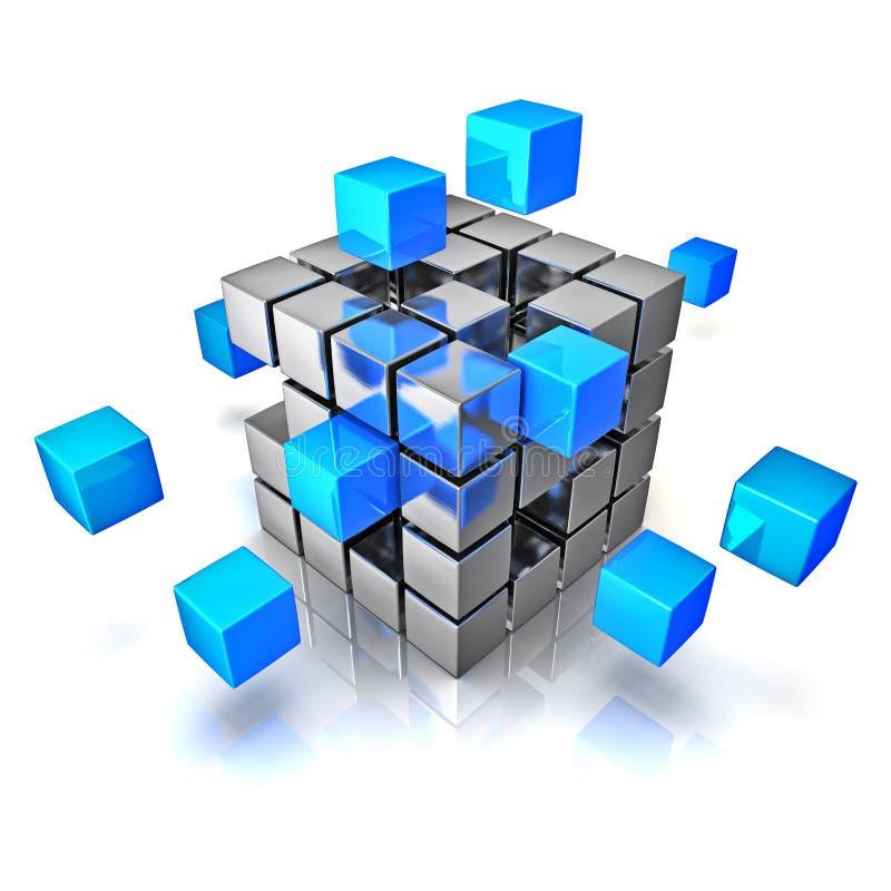 企业配合互联网通信概念 库存例证