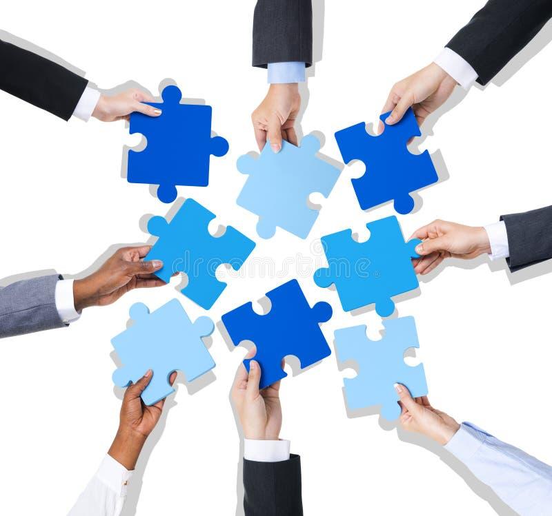 企业配合会议讨论启发概念 免版税图库摄影