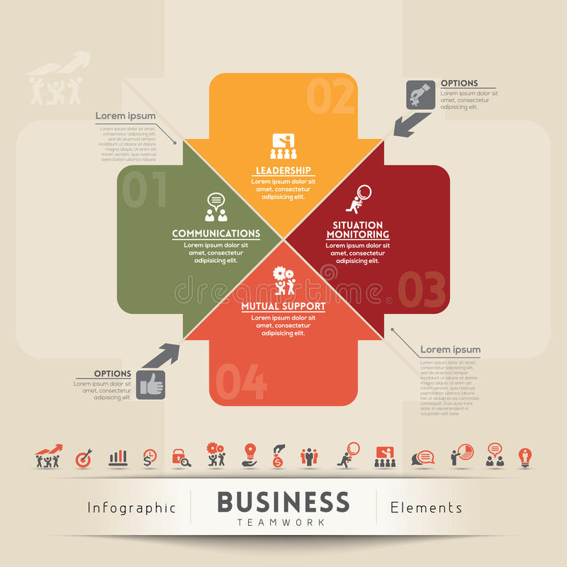 企业配合概念图表元素 向量例证