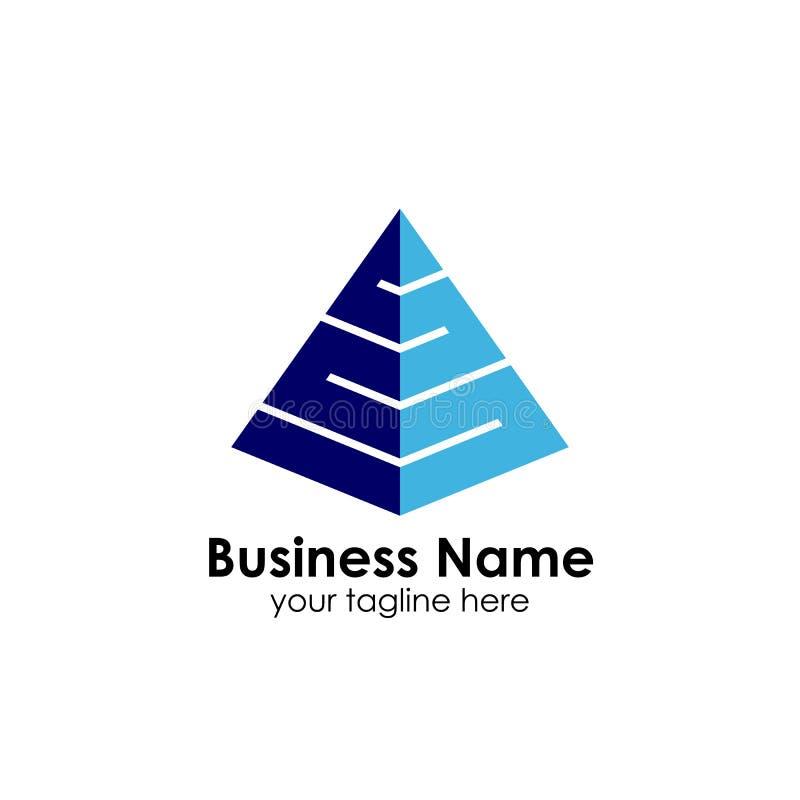 企业金字塔商标设计模板 企业营销和财务商标设计 向量例证