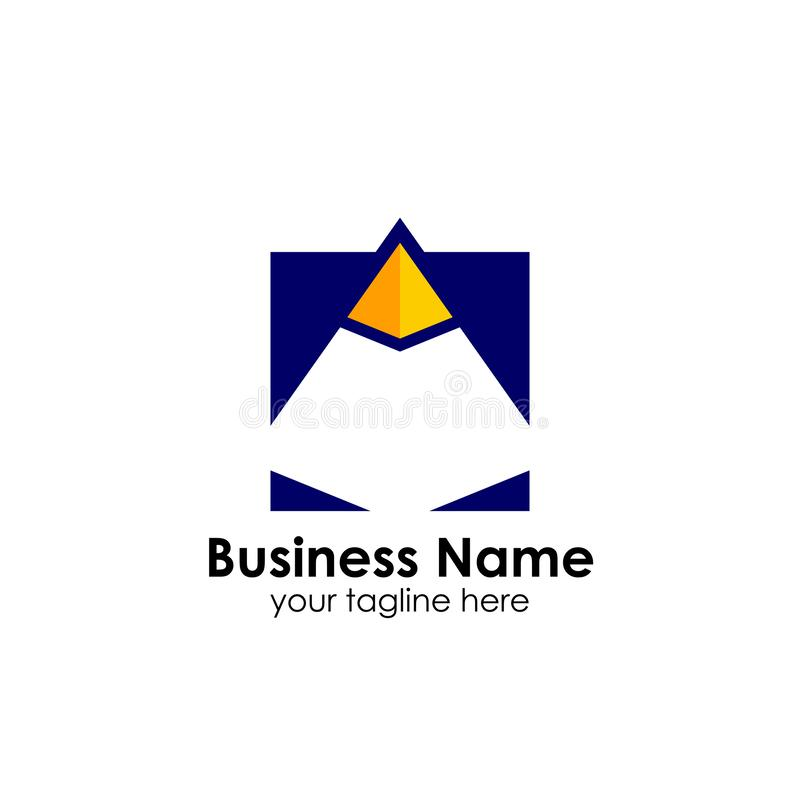 企业金字塔商标设计模板 企业营销和财务商标设计 皇族释放例证