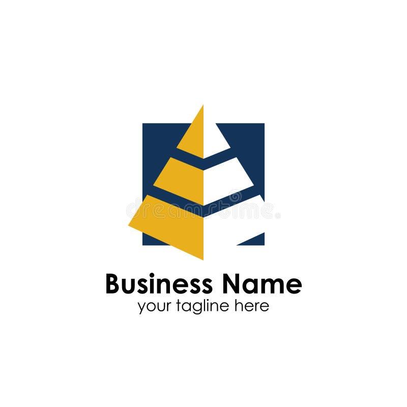 企业金字塔商标设计模板 企业营销和财务商标设计 库存例证