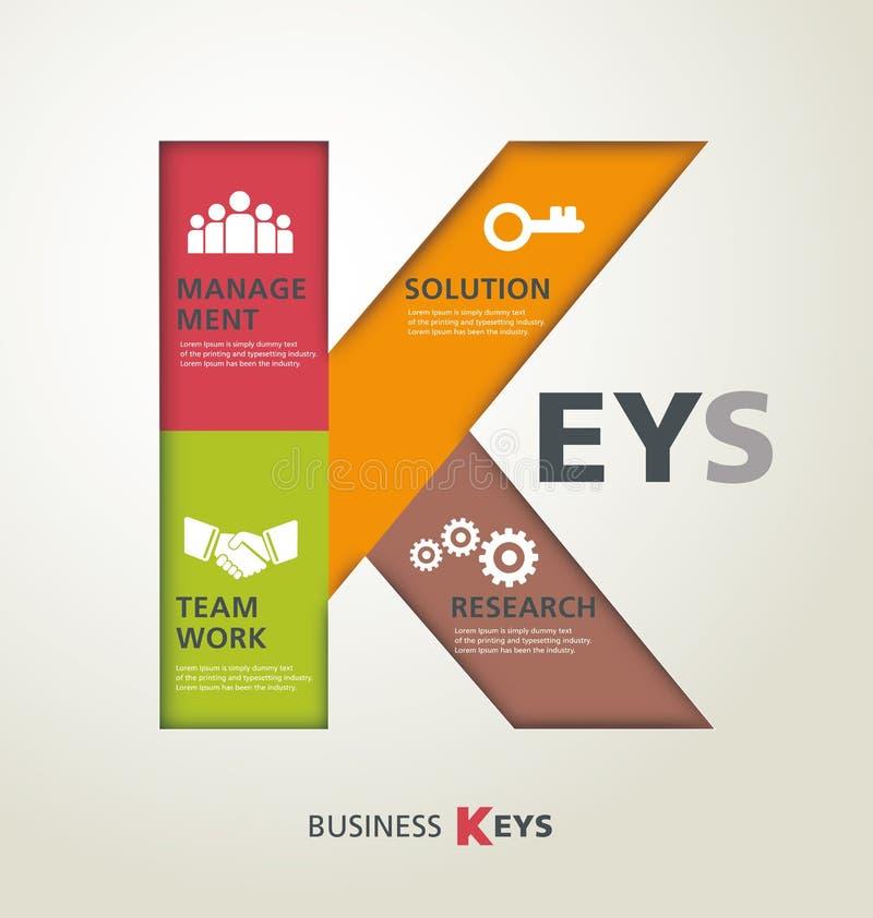 企业钥匙 皇族释放例证