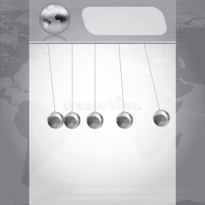 企业银设计模板 库存例证