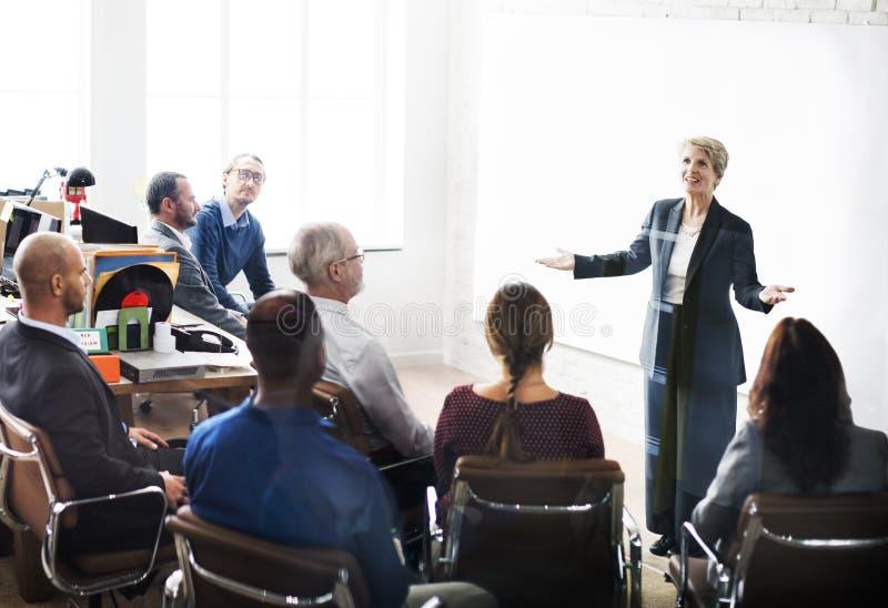 企业队会议研讨会会议概念 免版税库存照片