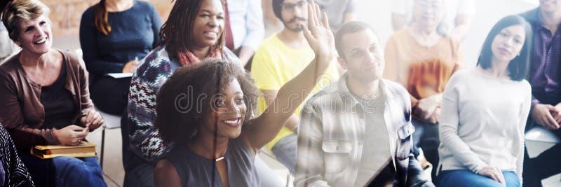 企业队会议研讨会训练概念 免版税库存图片