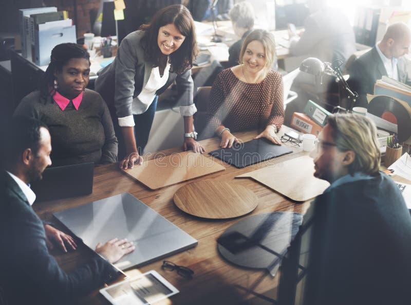 企业队会议项目计划概念 库存照片