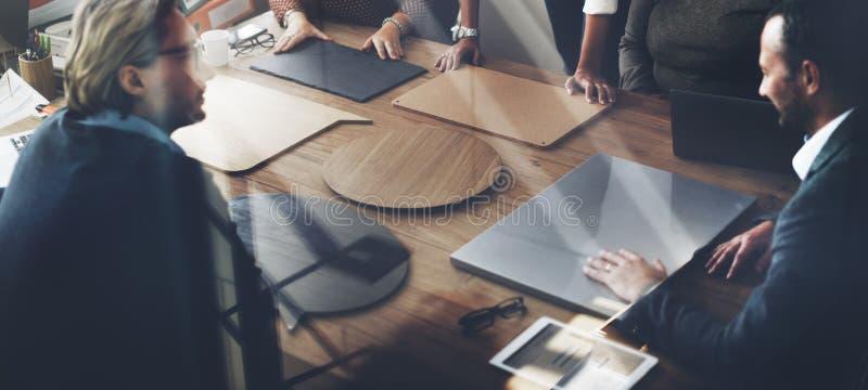 企业队会议项目计划概念 免版税库存照片