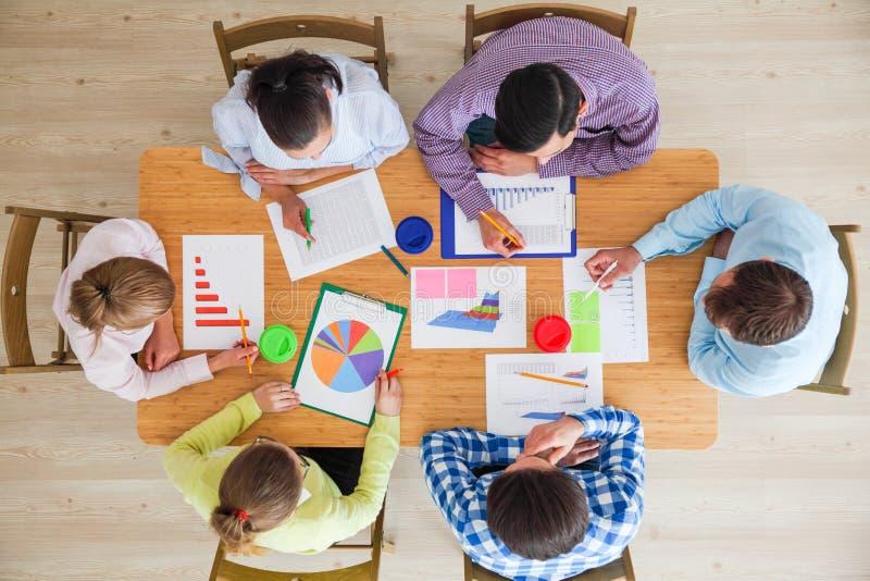企业队会议 免版税库存照片
