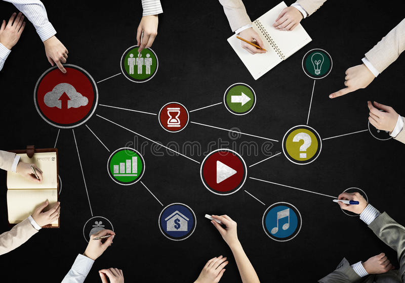 企业队创造性的工作  免版税库存图片